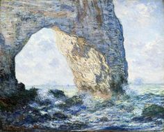 Monet spent most of February 1883 at Étretat, a fishing village and resort on the Normandy coast. He painted twenty views of the beach and the three extraordinary rock formations in the area: the Porte d'Aval, the Porte d'Amont, and the Manneporte Claude Monet, Oil Painting For Beginners, Oil Painting Techniques, Painting Tips, Art Techniques, Painting Lessons, Watercolour Painting, Art Lessons, Pierre Auguste Renoir