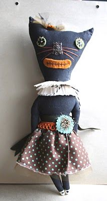 the adventures of bluegirlxo: artful thursdays #26....halloween cat tutorial and adopt dolores...