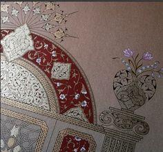 Illuminated Letters, Illuminated Manuscript, Illumination Art, Islamic Art Calligraphy, Acanthus, Various Artists, Arabesque, Designs To Draw, Line Art