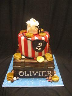 Rose-Vanille - pirate cake pirate cake birthday cupcake party kid child boys