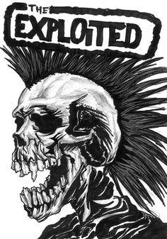 The Exploited punk deviantART Concert Rock, La Danse Macabre, Mode Punk, Punk Poster, Rock Band Posters, Heavy Metal Art, Band Logos, Punk Art, Concert Posters