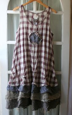 Bohemian Lagenlook / 'Maryse' Dress by BreatheAgainClothing