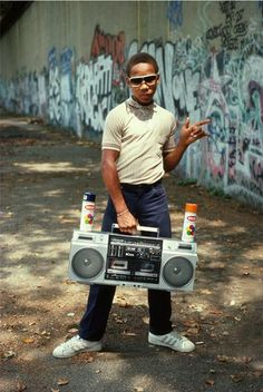 Little Crazy Legs strikes an impromptu pose during Wild Style shoot, Riverside Park, Manhattan 1983: Photography by Martha Cooper Hip-Hop Revolution   Museum of the City of New York