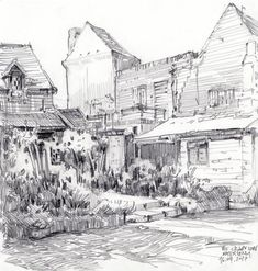 Book Drawing, Nature Drawing, Drawing Poses, Painting & Drawing, Landscape Sketch, Landscape Drawings, Landscapes, Ink Illustrations, Pencil Illustration