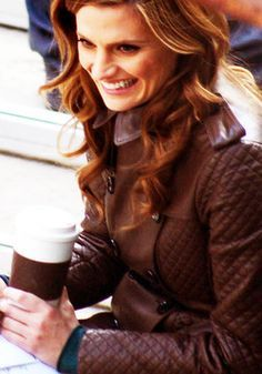 Stana Katic / On the set of Castle