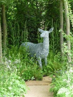 17. Wire doe installed at Chelsea Flower Show Garden by Adam Frost, Gold Medal