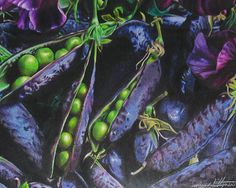 amazing colored pencil art | peas coloured pencil drawing colored pencil drawing 11x14