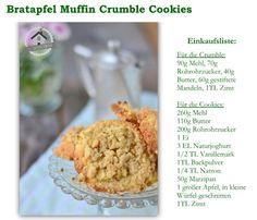 Knusperherbstgebäck: Bratapfel-Crumble-Muffin-Cookies