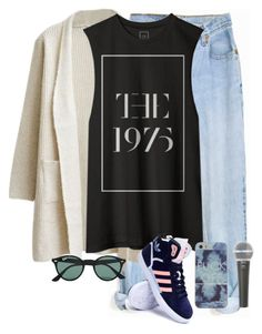 """Untitled #185"" by karol1dh ❤ liked on Polyvore featuring Levi's, adidas, Ray-Ban, Galaxy Audio, women's clothing, women, female, woman, misses and juniors"