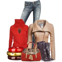 Printed Red, created by christina-young on Polyvore