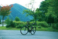 秋の自然を自転車で散策。