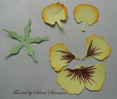 Selma's Stamping Corner and Floral Designs: Pansy Tutorial