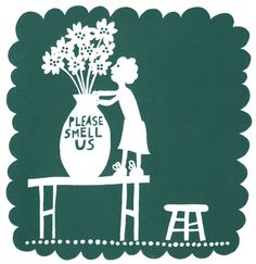 Rob Ryan... The plse smell us painted on a vase or jar.