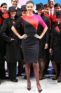 This is a flight attendant uniform?! Wish we had this!!!