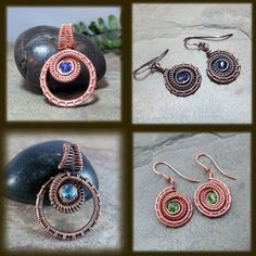 Tutorial: Woven Ammonite Earrings and Pendant by enairda Level: Advanced | JewelryLessons.com