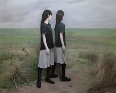 Xue Ruozhe - Cancelled Landscape 被取消的风景 200 x 250 cm, oil on linen, 2015