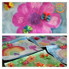 Butterfly Pasta Watercolor Art - Kids Activities Blog