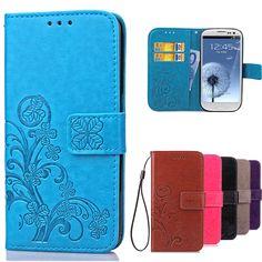 럭셔리 case 대한 samsung galaxy s3 플립 지갑 가죽 커버 samsung s3 case galaxy i9300 neo i9301 duos i9300i 전화 case
