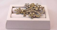 Rhinestone Pin-Brooch-Vintage Jewelry  Gift by Pastfinds on Etsy