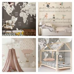 Imagination and creativity are transmitted to your little ones through all these wallpapers http://petitandsmall.com/little-hands-wallpaper-mural/