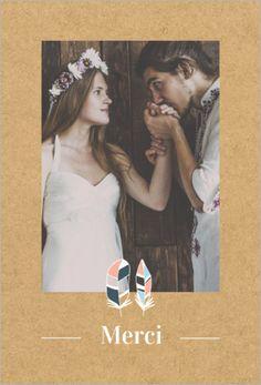pop slection mariage collection powhatan carte de remerciements personnaliser sur popcartecom - Remerciement Mariage Personne Absente