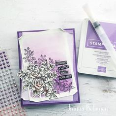 Blender Pen, Mesh Ribbon, Business Pages, Watercolor Background, My Stamp, Embossing Folder, Soft Colors, Facebook Sign Up, Happy Friday
