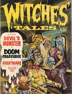 Witches' Tales Grotesque Early Horror Comic!