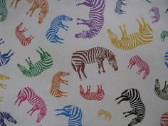 Vintage Sheet of Colorful Zebra Wrapping Paper by VintageByThePound on Etsy