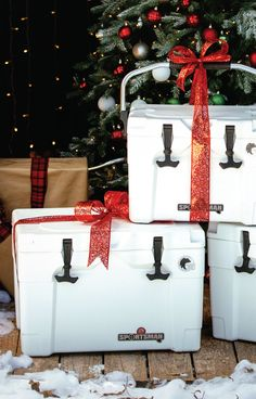 For the outdoorsman on your list, our Sportsman Coolers are bear resistant and will stay cold 'til Christmas!