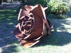 Core ten steel rose sculpture By Folko Kooper