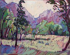 Painted Zion Print By Erin Hanson