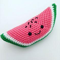 PDF PATTERN ONLY Cute Teddy Wilma Watermelon by OTHcrochets