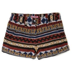 Ethnic Wool-Blend Shorts (1810 RSD) ❤ liked on Polyvore featuring shorts, bottoms, pants, print shorts, mango shorts and patterned shorts