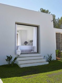 Love that! Step out of your bedroom to a little private patio area. I would definitely enclose that