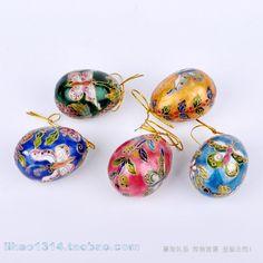 Beijing handmade enamel cloisonne silver blue easter eggs(China (Mainland))