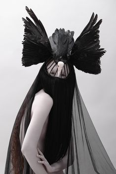 """MELUSINA"" by Jay Briggs for Beautiful Savage #fashion #editorial #wings #dark"