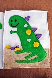 My dinosaur quiet book page. :)