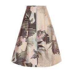 Buy Whistles Mya Floral Zip Skirt, Multi Online at johnlewis.com