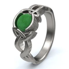 Jade Engagement Ring, Sterling Silver Celtic Knot Ring, Unique Engagement Ring, Handcrafted in Your Size Silver Celtic Rings, Celtic Knot Ring, Sterling Silver Rings, Celtic Wedding, Unique Wedding Bands, Custom Jewelry Design, Eternity Ring, Unique Rings, Or Rose