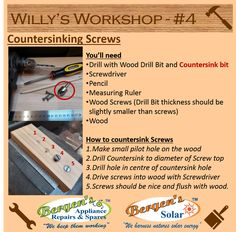 Want to get those screws flush with the wood? This is your step by step Tutorial.