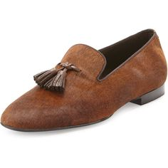 Tom Ford Chesterfield Calf Hair Tassel Loafer ($1,990) ❤ liked on Polyvore featuring men's fashion, men's shoes, men's loafers, brown, men's shoes loafers, mens tassel loafers, mens slip on loafers, mens slip on shoes, mens tassel loafer shoes and mens brown loafers