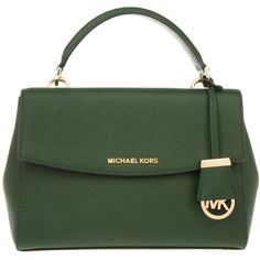 Michael Kors Handle Bag - Ava SM TH Satchel Moss - in green - Handle... ($255) ❤ liked on Polyvore featuring bags, handbags, green, michael michael kors purse, green purse, satchel style handbag, green handbags and green bag