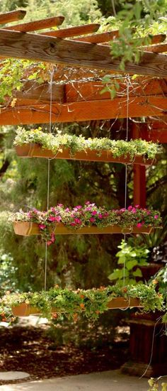Create this one-of-a-kind way to show off your plants all season long. Watch and learn, and guess what, it starts with rain gutters!