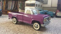 Tonka purple pickup, 1968.
