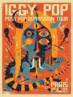 NIARK1 Iggy Pop Paris Poster ift.tt/1spM1WB @RockPosterFrame
