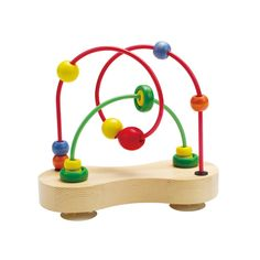 Get lost in fun with our Hape Double Bubble Wire Maze! Two suction cups hold this wire maze to the table as your toddler works the wooden beads from one end to the other. Larger beads slip over smalle Hape Toys, Maze Puzzles, Baby List, Baby Games, Creative Play, Toddler Toys, Fine Motor Skills, How To Make Beads, Wooden Beads