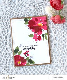 uses altenew watercolor wonders. try with pti brushed blooms or beautiful brushstrokes.