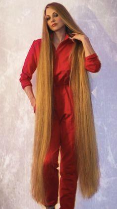 Long Blond, Really Long Hair, Long Hair Video, Hair Knot, Hair Brained, Permed Hairstyles, Cut My Hair, Silky Hair, Beautiful Long Hair