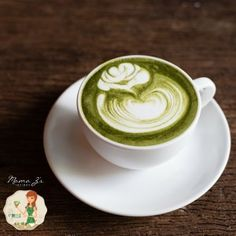 Matcha green tea latte. Use honey instead of stevia.