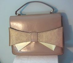 GIANNI BINI WHITNEY SATCHEL TAUPE NWT BIG BOW #GIANNIBiNI #Satchel